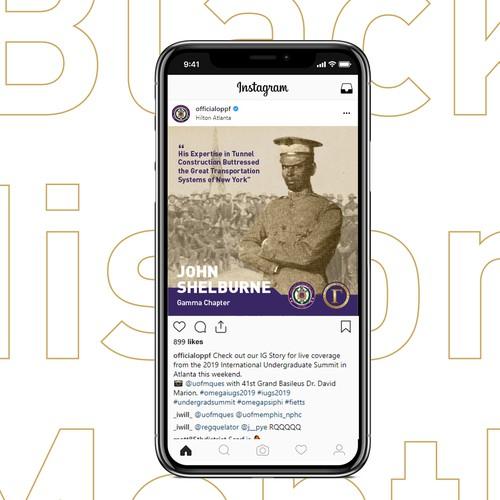 Black American History Instagram Campaign