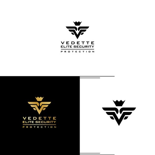 Bold logo for Vedette Elite Security