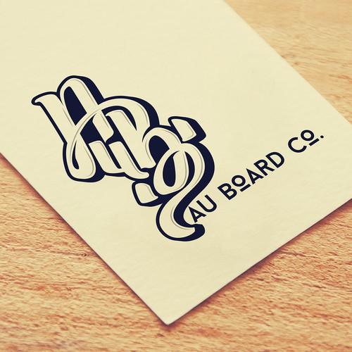 Surf-inspired logo design