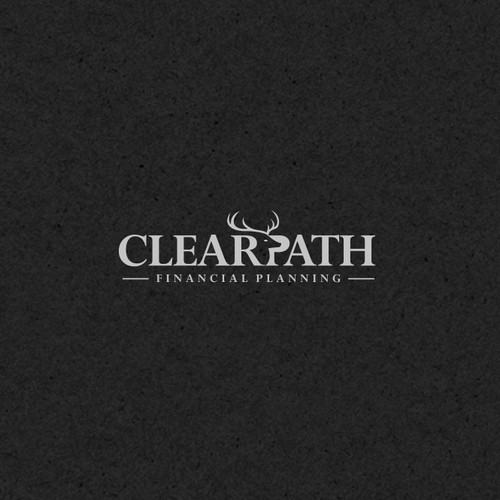 Negative Space Logo for Clear Path Financial Planning.