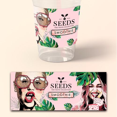 Smoothie Label Design/Seeds