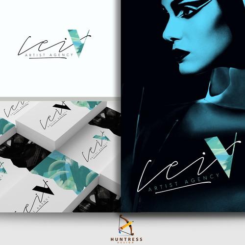 Artistic logo design for Lei V Artist Agency