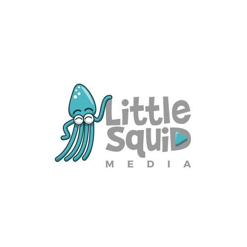 Cartoony Squid logo for a Production Company
