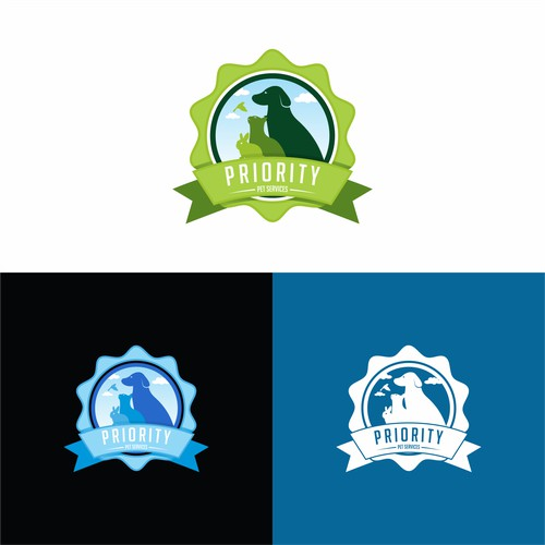 Create a logo for a pet sitting service where pets are our priority.