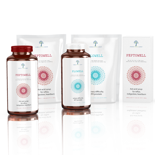 Organic Packaging Design for International Nutriceutical/ Vitamincompany: Superior Wellness