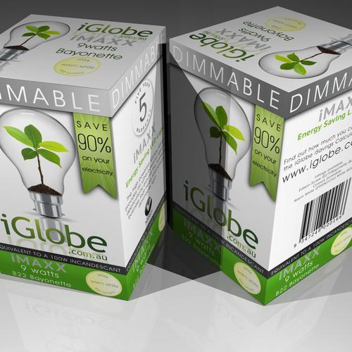 Eco lightbulb packaging design