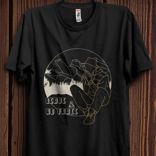 T-shirt design for hiking lover