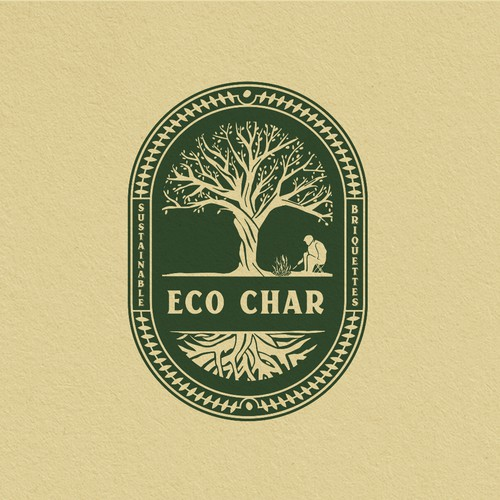 Design hipster logo and brand identity for Eco Char Sustainable Briquettes