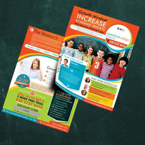 Flyer for student academic enhancement
