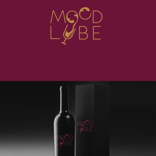 fun modern simple logo for wine brand