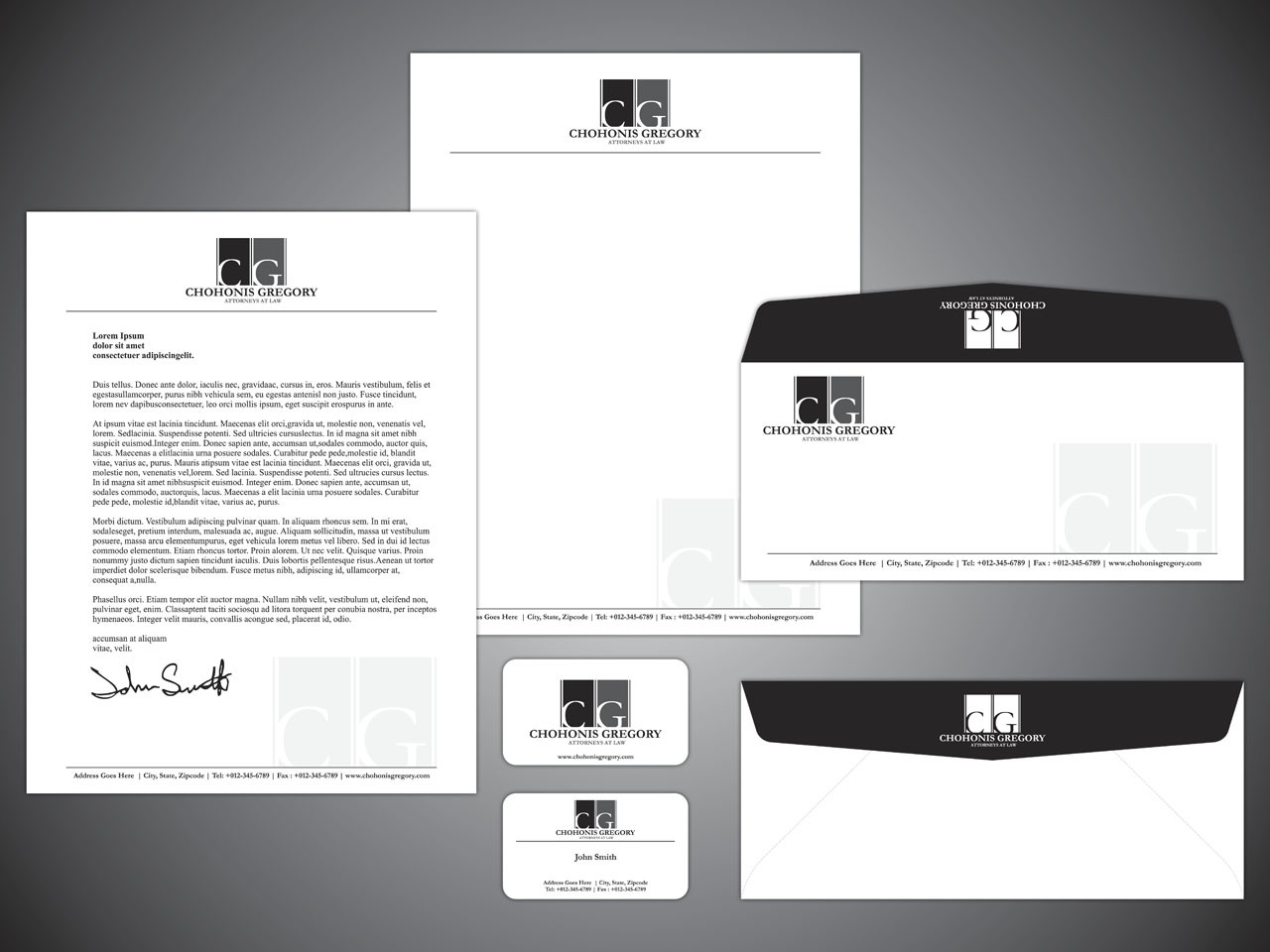New letterhead wanted for Chohonis Gregory, PA