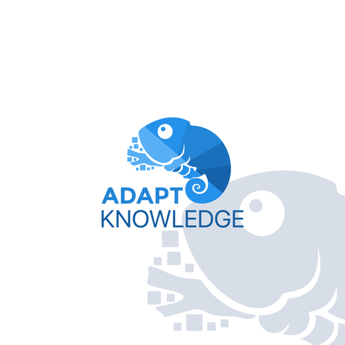 Creative logo concept for adapt knowledge