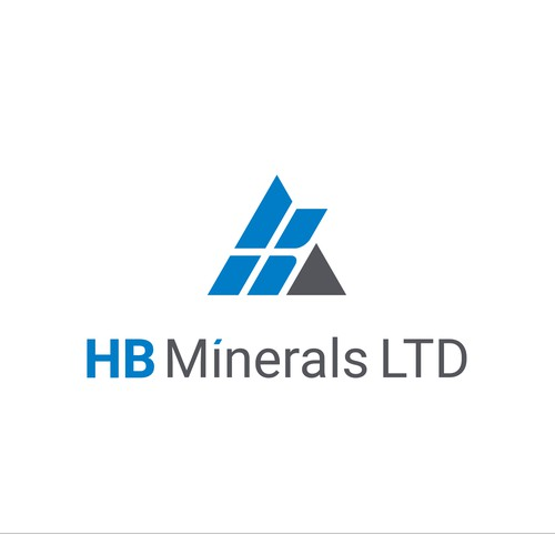 A simple and modern logo to represent a company of minerals and aggregates.