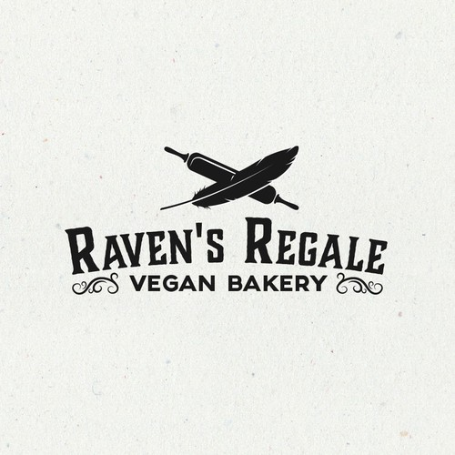 Aesthetic and elegance logo for vegan bakery.