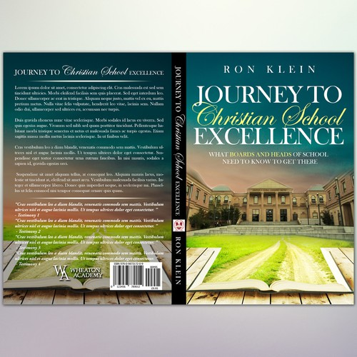 "Book Cover Concept for ""Journey to Christian School Excellence"""
