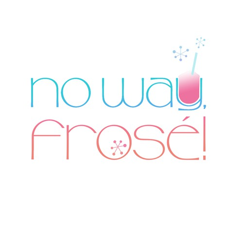 Logo for Fun Pop up Frozen Rose wine store!