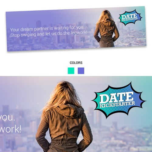 An ad for a dating company