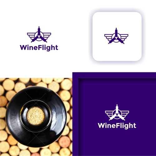 Mobile app logo design for Wine Flight