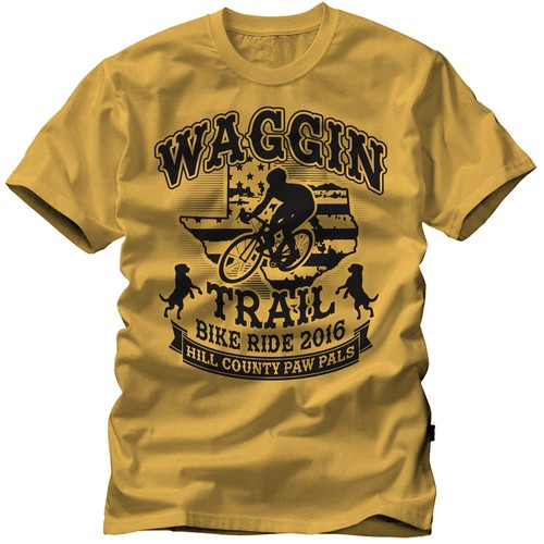1 Colour print Waggin Trail