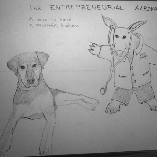 Ruby and Aardvark on a vet-book cover