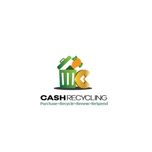 logo concept for a money recycling company