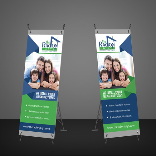 Need a Strong pop up banner for trade shows....Radon Mitigation Contractors