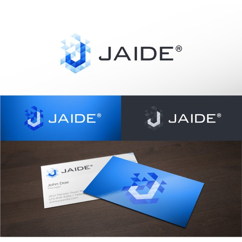 Software company constructive/geometric logo.