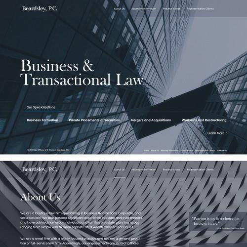 Financial lawyer website design concept