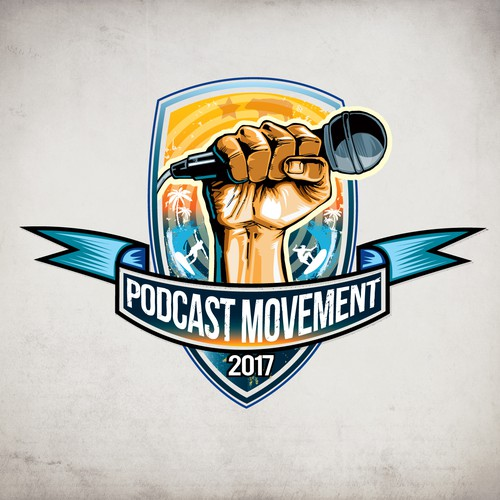 Logo for Podcast movement
