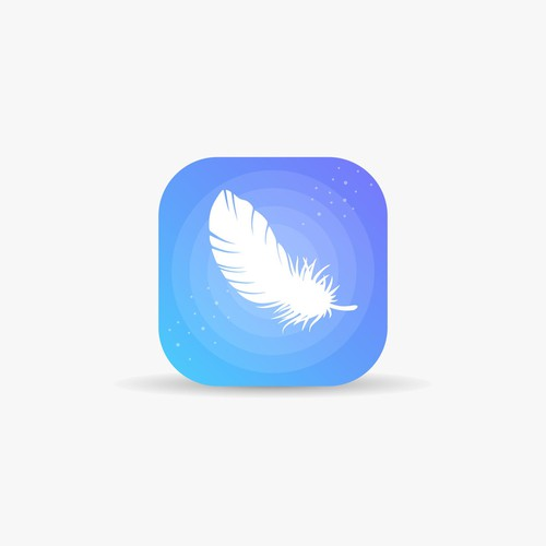 Relaxing app icon concept