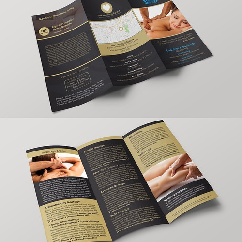 Create a stand-out Massage leaflet for yoga studio