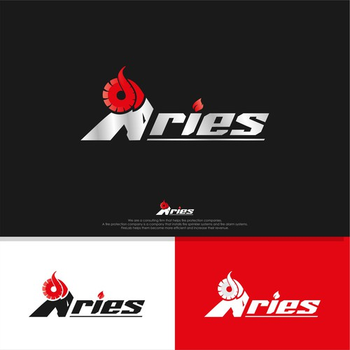 Design a modern logo for Aries fire consulting business