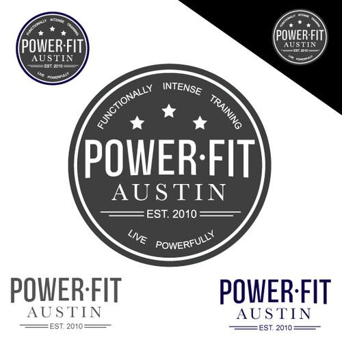 PowerFit Austin - Fitness Logo