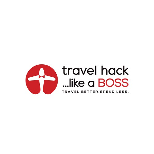 clean and clever logo for travel service