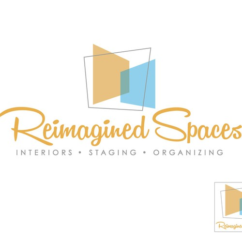 A cool logo for a company that does home staging, interior decorating and organizing.