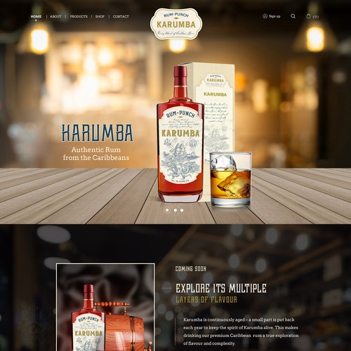 1-pager for an authentic rum brand