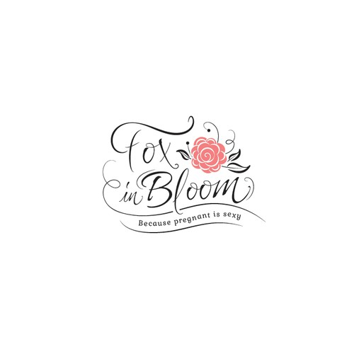 Classic, feminine, sexy logo for maternity wear.