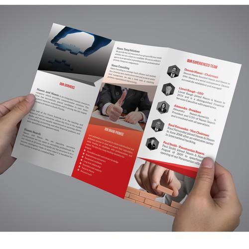 Recruitment tri-fold brochure