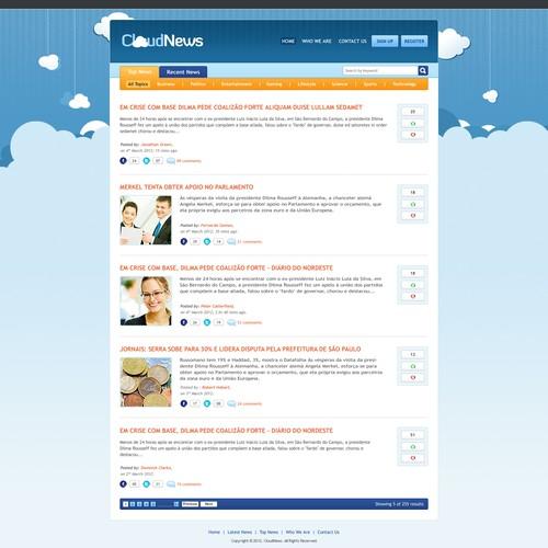 website design for a news aggregator from Brazil