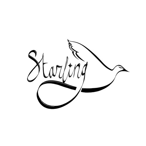 Online Retail Fashion Logo design for Starling Second Edition