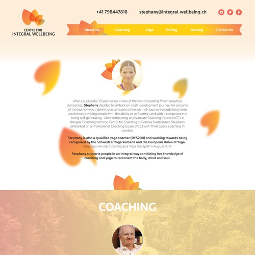 Integral wellbeing Website Page