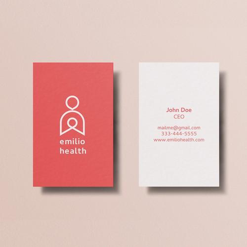Logo and Business card design for Emilio Health