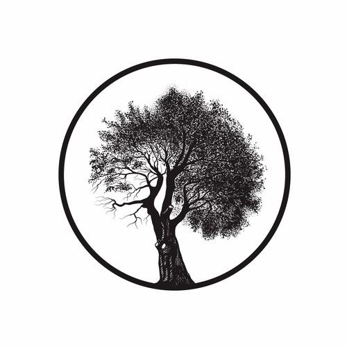 Rustic tree logo