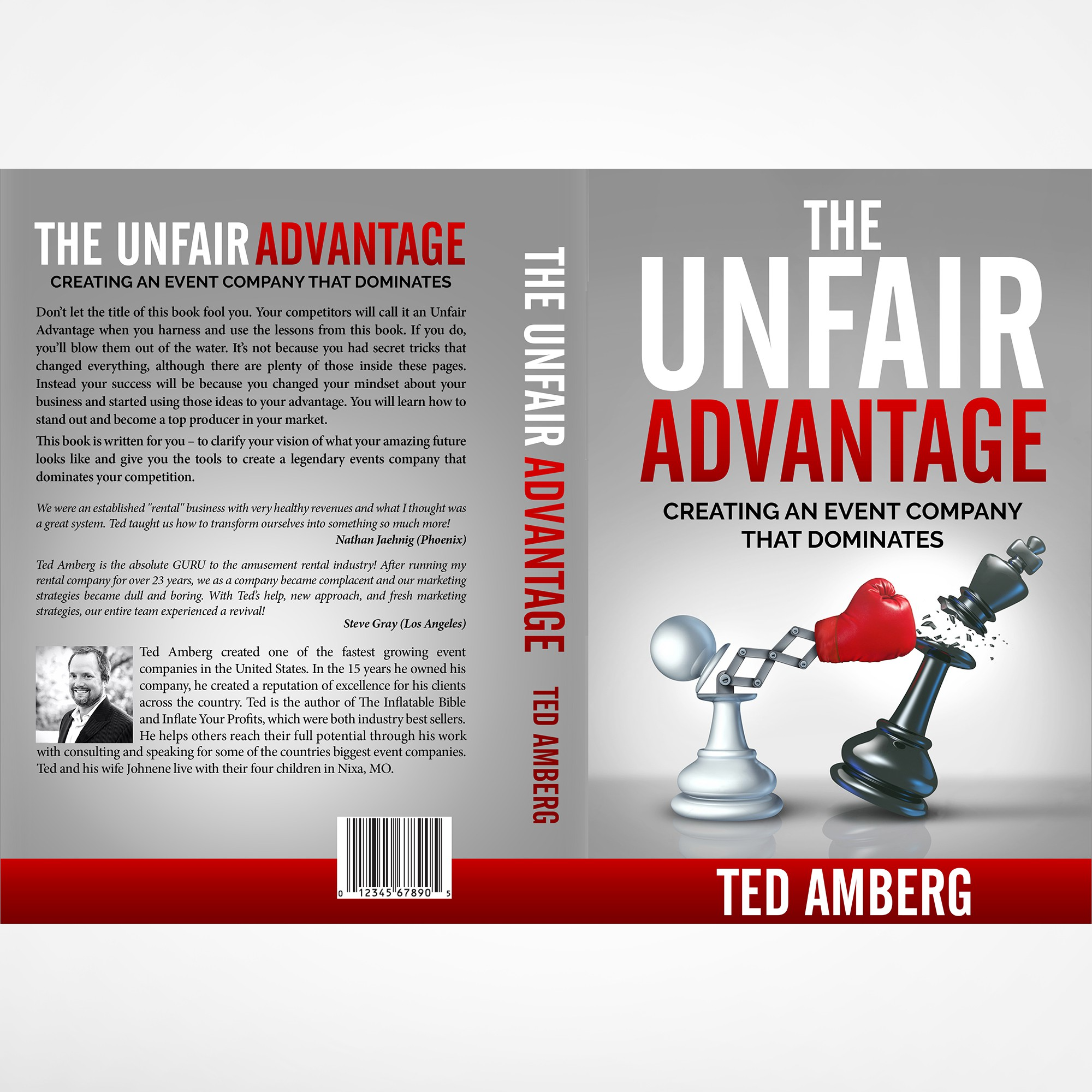 """Create a Bookcover for top events planning industry author called """"The Unfair Advantage"""""""