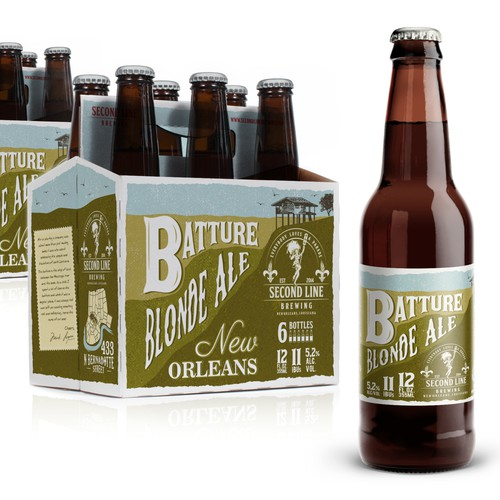 Beer bottle label. Carriers