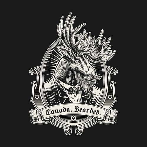Badge Design for Canada. Bearded.
