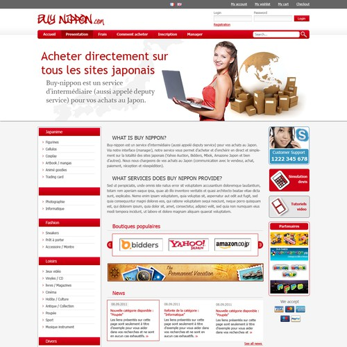 Webdesign for Buy Nippon