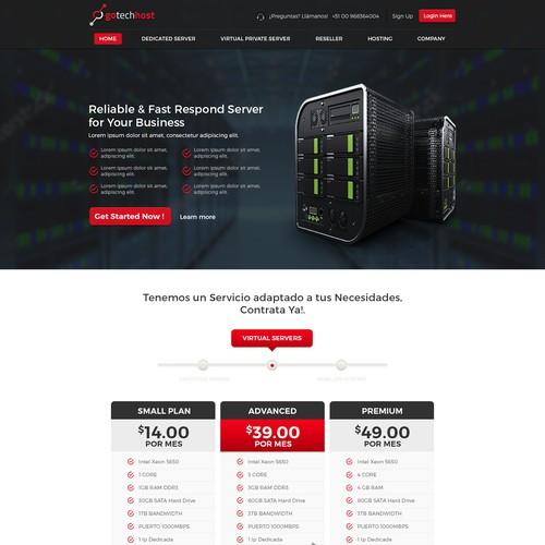 Hosting Webpage Design