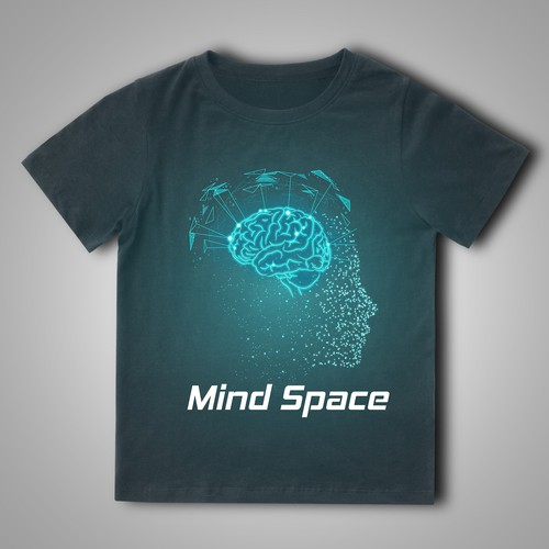 Mind Space Modern high quality tshirt design