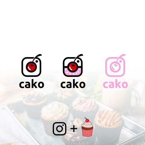 Cupcake + Instagram logo